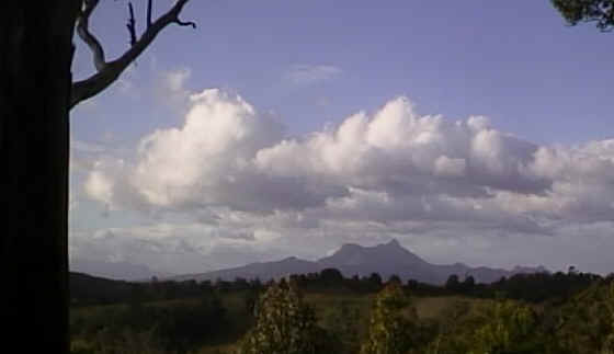 Now is a good time to assemble a beverage or what ever it is you do while wwwaiting for eyecandy to arrive, the first image you will see is of wollumbin, also known as Mount Warning, this pic was taken along the road rarely travelled that leads to the Peace Zone. ;O)--~